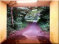 SZ0895 : Redhill: bridleway O14 comes out of the subway by Chris Downer