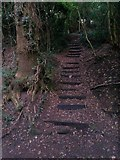 SZ0895 : Redhill: footpath O08 climbs from Sandy Way by Chris Downer