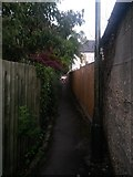 SZ0895 : Redhill: footpath O13 heads for Pine Vale Crescent by Chris Downer