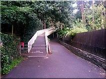 SZ0895 : Redhill: footpath O05 reaches the footbridge by Chris Downer