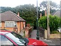 SZ0895 : Redhill: footpath O12 from Jessopp Close by Chris Downer