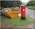 SO5719 : Red pillarbox and yellow skip, Goodrich by Jaggery