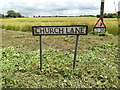 TM0179 : Church Lane sign by Adrian Cable