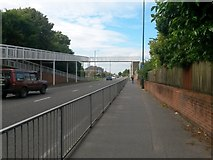 SZ0894 : Ensbury Park: bridleway N03 becomes the Boundary Road pavement by Chris Downer