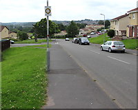 ST3091 : Neighbourhood Watch Area sign on a Russell Drive lamppost, Malpas, Newport by Jaggery