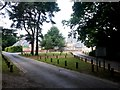 SZ0794 : Talbot Village: the estate driveway approaches the school by Chris Downer