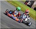 SP2118 : Cadet class karts at Little Rissington by John Winder