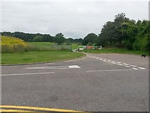 SZ0794 : Ensbury Park: the end of Slades Farm Road and footpath N22 by Chris Downer