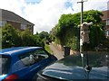 SZ0696 : Kinson: footpath E12 from Vince Close by Chris Downer