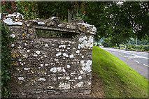 N9673 : Defending neutral Ireland in WWII: Boyne defences - Fennor Cross Roads loopholed wall (1) by Mike Searle