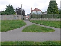 SZ0895 : Redhill: footpath O04 from The Grove by Chris Downer