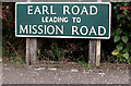 TG2813 : Earl Road (road sign) by Evelyn Simak