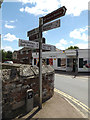 TL9979 : Roadsign on the B1111 High Street by Adrian Cable