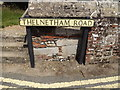 TL9979 : Thelnetham Road sign by Adrian Cable