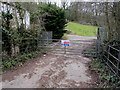 ST3389 : Welsh Water site access gate, Caerleon Road, Newport by Jaggery