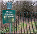 ST3389 : Motor Vehicles Prohibited notice facing Caerleon Road, Newport by Jaggery