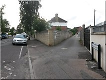 SZ0995 : Moordown: Priory View Place from Priory View Road by Chris Downer