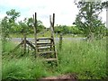 NY6820 : Footpath crossing the A66 [Appleby by-pass] by Christine Johnstone