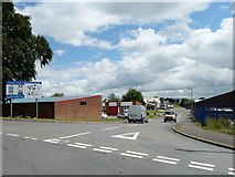 NY6920 : Entrance to Cross Croft industrial estate by Christine Johnstone