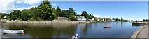 SX9291 : Panorama of River Exe and mouth of Exeter Canal by David Smith