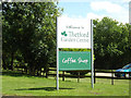 TL8884 : Thetford Garden Centre sign by Adrian Cable