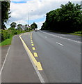 ST2482 : A48 towards Castleton and Newport by Jaggery