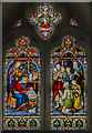 TF8044 : Stained glass window, St Mary's church, Burnham Deepdale by Julian P Guffogg