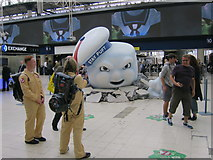 TQ3179 : Stay Puft Marshmallow Man, Waterloo Station by Oast House Archive