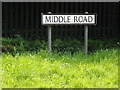 TM0179 : Middle Road sign by Adrian Cable