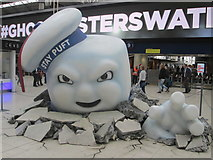 TQ3179 : Stay Puft Marshmallow Man, Waterloo Station by Peter S