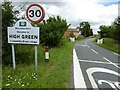 SO8745 : Village sign for High Green by Philip Halling