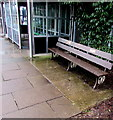 SO7542 : Former GWR bench on Colwall railway station by Jaggery