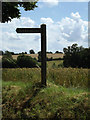 TM0178 : Church sign on the C637 Church Lane by Adrian Cable
