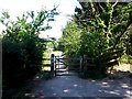 SZ0996 : Muscliff: a gate on the Stour Valley Way by Chris Downer