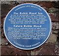SO5012 : Robin Hood Inn blue plaque, Monmouth by Jaggery
