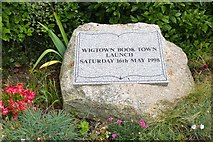NX4355 : Plaque for the Book Town Launch, Wigtown by Jim Barton