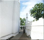 TQ1572 : View into the small garden of Strawberry Hill House by Robert Lamb