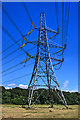 SU0907 : Pylon at Potterne Farm by Mike Searle