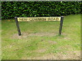 TL9877 : New Common Road sign by Adrian Cable