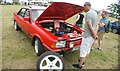 TQ5583 : View of a Ford Escort Mark 3 in Havering Mind's Wings and Wheels event at Damyns Hall Aerodrome by Robert Lamb