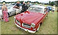 TQ5583 : View of a Volvo 122 S in Havering Mind's Wings and Wheels event at Damyns Hall Aerodrome by Robert Lamb