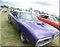 TQ5583 : View of a Dodge Coronet Super Bee in Havering Mind's Wings and Wheels event at Damyns Hall Aerodrome by Robert Lamb