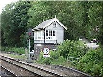 SD9926 : Signal box near Hebden Bridge Railway Station by JThomas