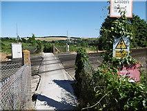 TQ5365 : Darent Valley Path crossing the railway near Eynsford by Marathon