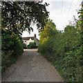 SK4943 : Babbington: nearing The Gate House by John Sutton