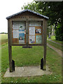 TL9978 : St.Mary's Church Notice Board by Adrian Cable