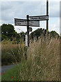 TL9978 : Roadsign on the B1111 Bury Road by Adrian Cable