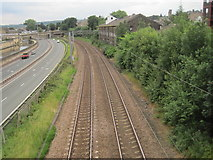 SE1039 : Bingley 1st railway station (site), Yorkshire by Nigel Thompson