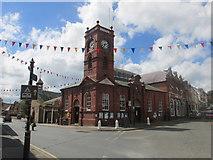 SO2956 : Market hall in Kington. by steven ruffles