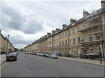 ST7565 : Scaffolding in Great Pulteney Street, Bath by David Smith